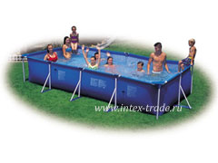 Каркасный бассейн Intex Rectangular Frame Pool 28273, 450 х 220 х 85 см